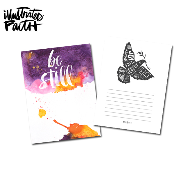 Sign up for the newsletter and receive free printables at the IllustratedFaith.com website!