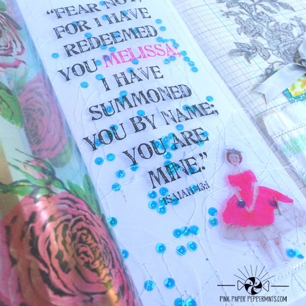 Free Summer Workshop Series on Art Journaling Your Faith.  This is lesson 4, Using inkjet transparencies in your art journal and getting personal with the bible!   There are also some free printables for your journaling bible and illustrated faith stuff!  Woot!