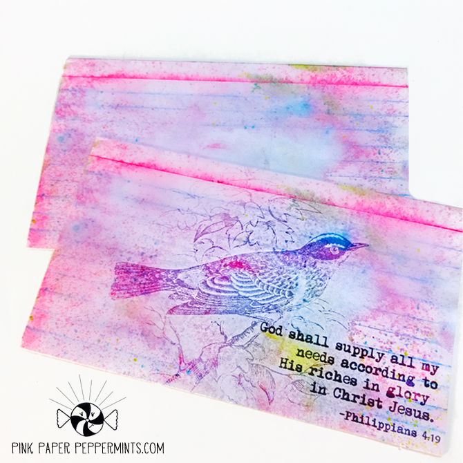 Free printable bible journaling index cards from Melissa at Pink Paper Peppermints!