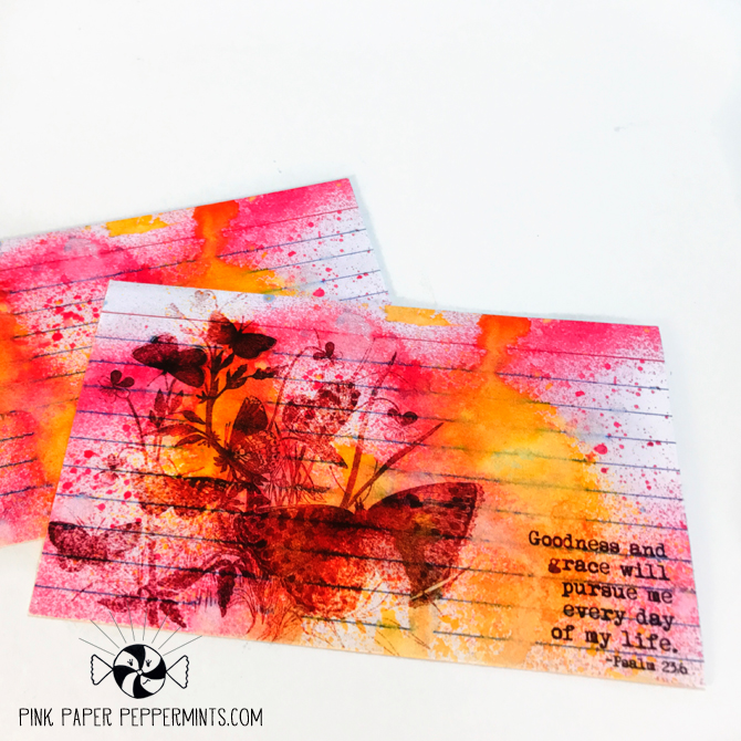 Printable cards for art journaling or faith planners.