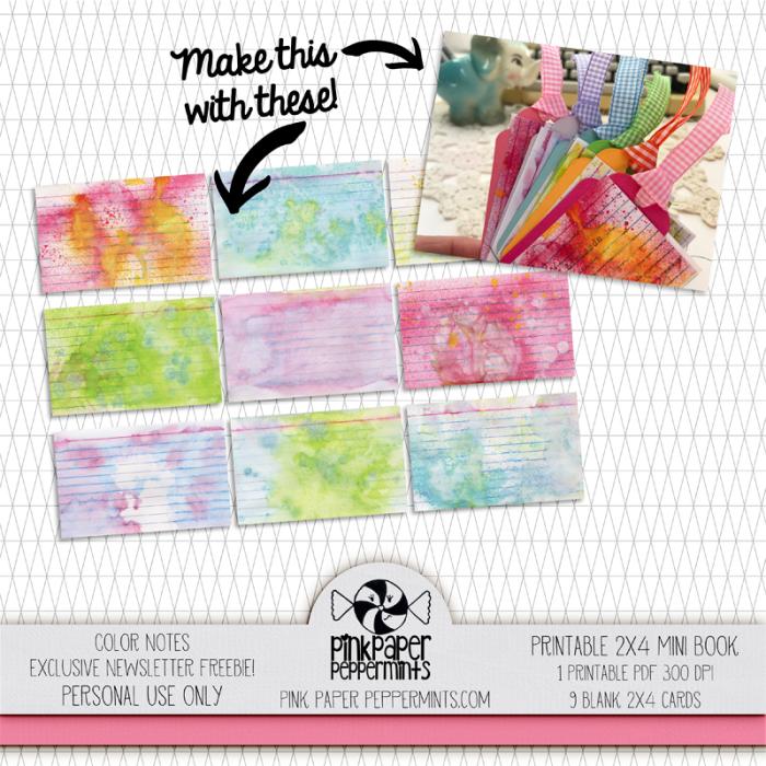 Pink Paper Peppermints newsletter freebie! yay!
