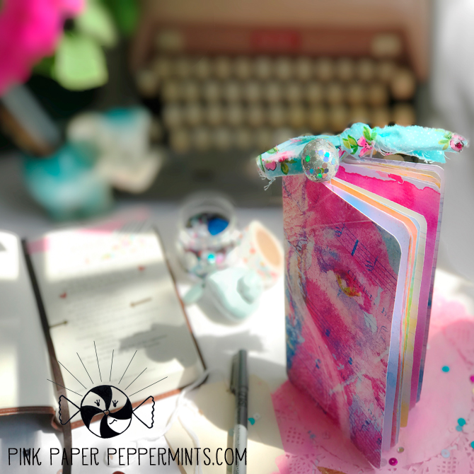 Printable traveler's notebook insert with art journal pages!