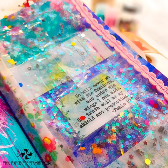 Super fun confettin tip-in tutorial for bible journaling!