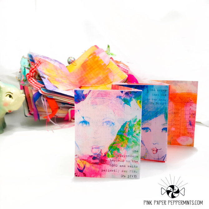How to make a mini accordion book with bible journaling printables!