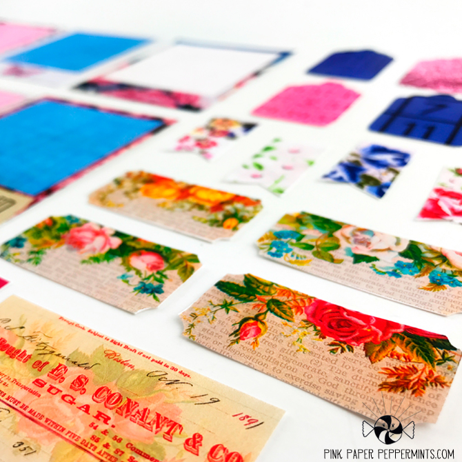 Printable Polaroid style frames, labels and tags sized for Traveler's Notebooks! Vintage flowers, linens and ephemera!