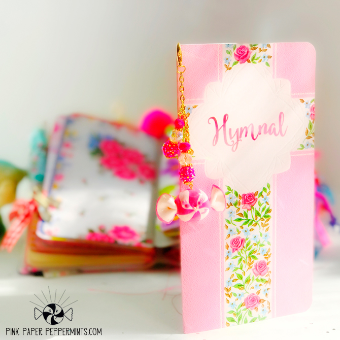 Printable Vintage Hymnal in Traveler's Notebook form!  Pink Paper Peppermints