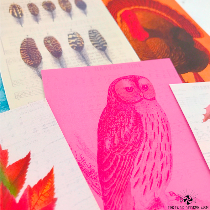 Vintage Fall Journaling Cards printables!
