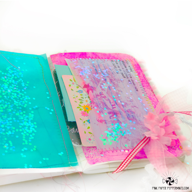 Faith art journal with printable scripture pocket!