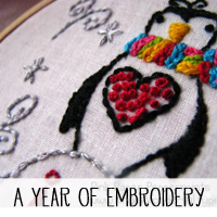 A year of free embroidery patterns!
