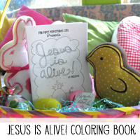 Printable Jesus is Alive Coloring Book