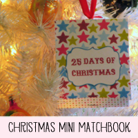 Printable Christmas Matchbook Mini Album for Truth in Tinsel or Daily December
