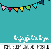 Printable Scripture Art Poster Hope