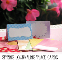 Printable Spring Journaling Cards Place Cards