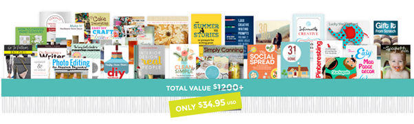 The Ultimate DIY Bundle of ebooks and classes for crafty people!