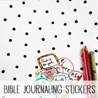 Free Printable Stickers for Bible Jouraling or Planners via Melissa @ PinkPaperPeppermints.com