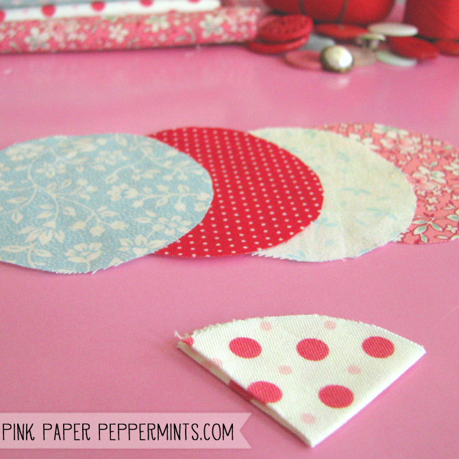 Super quick & easy DIY fabric flower tutorial via Melissa @ Pink Paper Peppermints