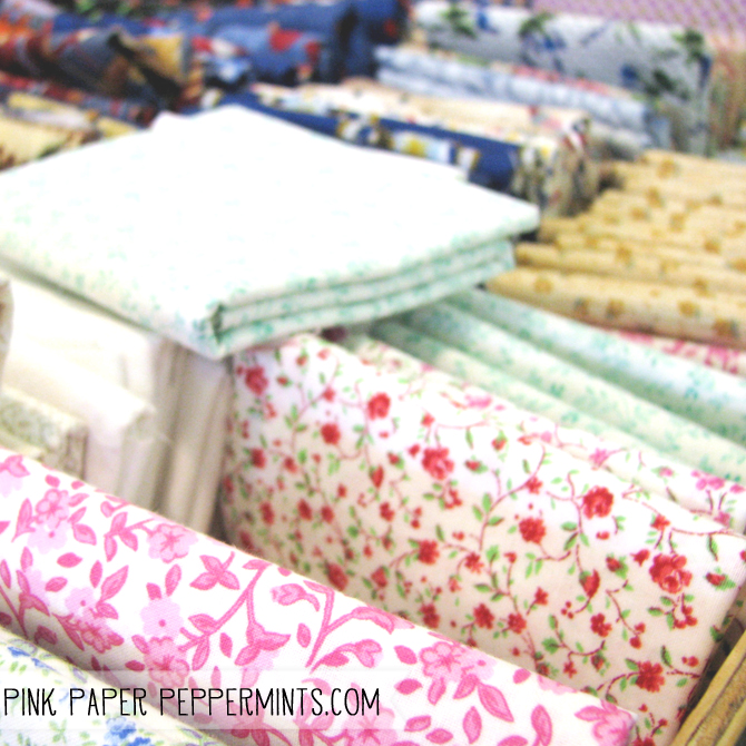 Beautiful fabric fat quarter, report on the quilt show at Pink Paper Peppermints