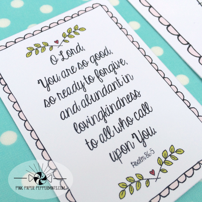 Free Bible Journaling Card And Scripture Art Printable Perfect For Project Life Or Illustrated Faith