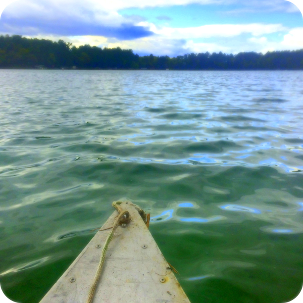 Canoeing on the lake this summer.