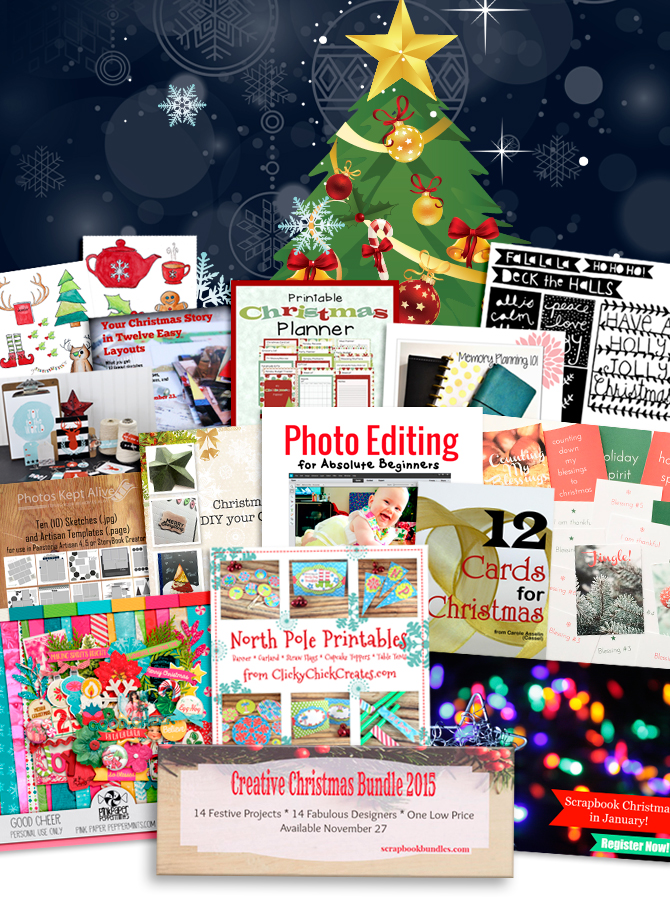 Handcraft your Christmas this year with this bundle of crafts, projects, printables and planners.