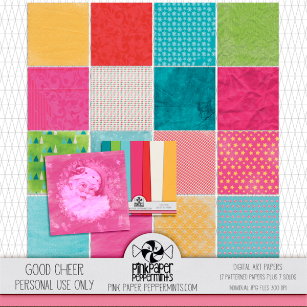 Good Cheer digital scrapbooking art and craft kit. Part of the Creative Christmas bundle! Click to see more!