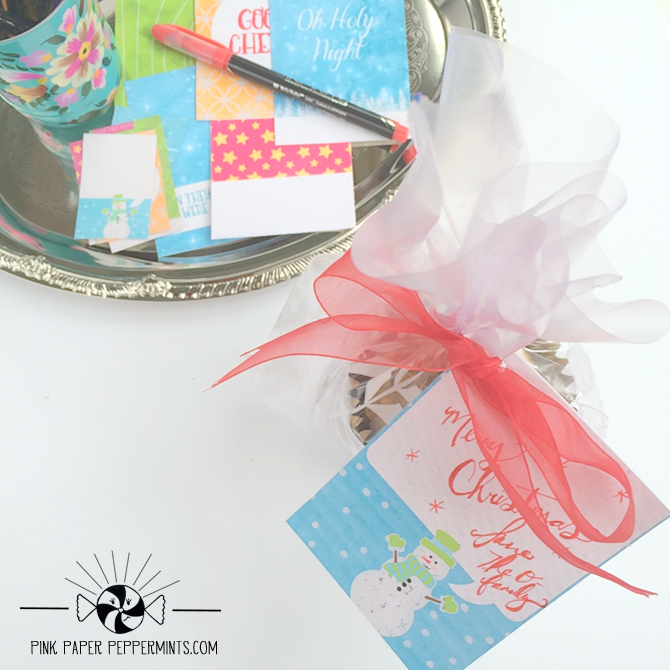 Free printable Christmas journal cards and planner stickers from Melissa at Pink Paper Peppermints  Click to download!