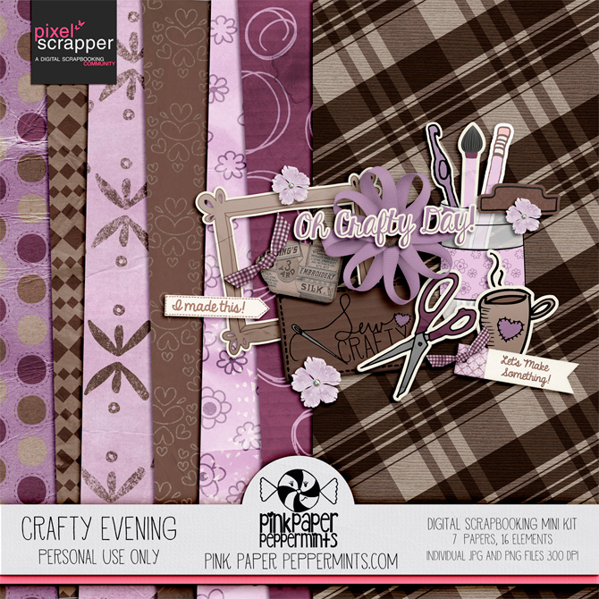 Free Crafty Evening mink kit download from Melissa at Pink Paper Peppermints!