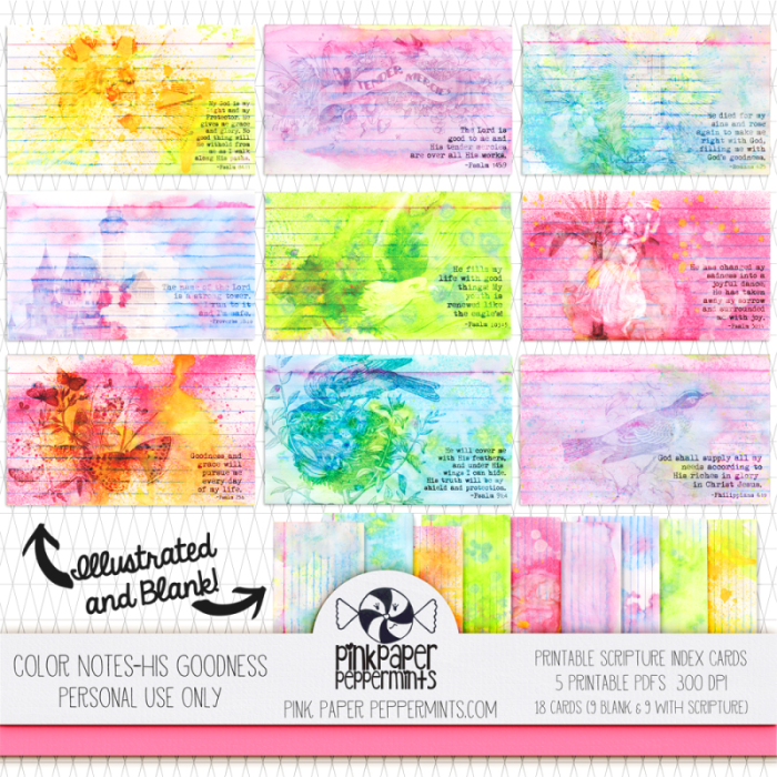 Printable Mixed Media Bible Journaling Cards!