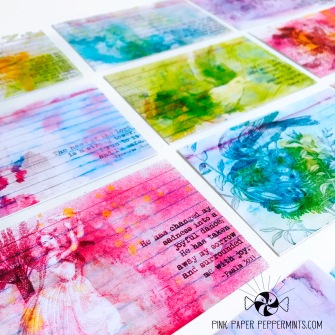 Printable Bible Verse notecards from Pink Paper Peppermints for bible journaling!