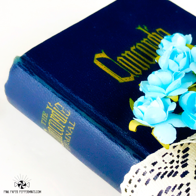 Gorgeous mini hymnal at Pink Paper Peppermints!