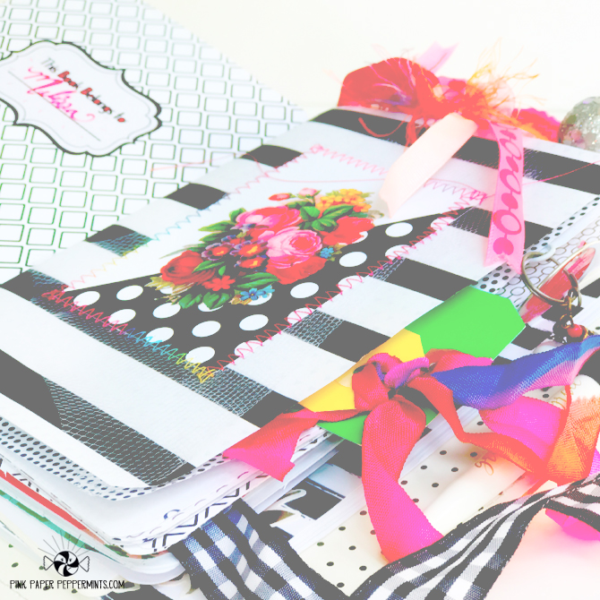Printable journal cards with gorgeous bright colors!