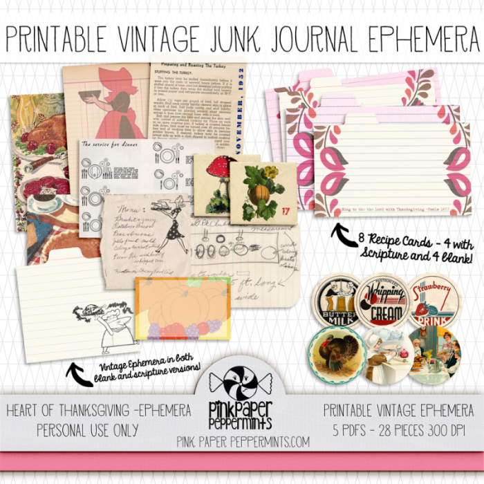 photograph relating to Free Printable Ephemera known as A mini Junk Journaling reserve, Printable Basic Ephemera and