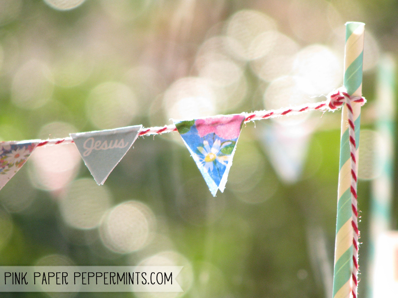 Free Printable Download of Computer Monitor Mini Bunting from Pink Paper Peppermints.com