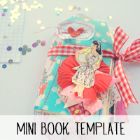 Free Valentine's Day Mini Book Template and Tutorial from Melissa @ PinkPaperPeppermints.com
