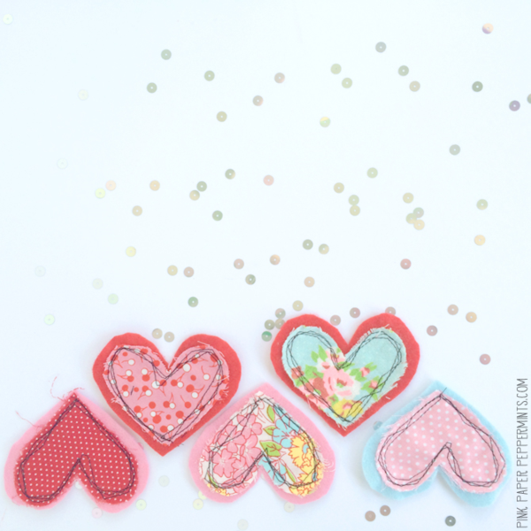 heart template for sewing - sew a fabric and felt heart bunting with this pattern