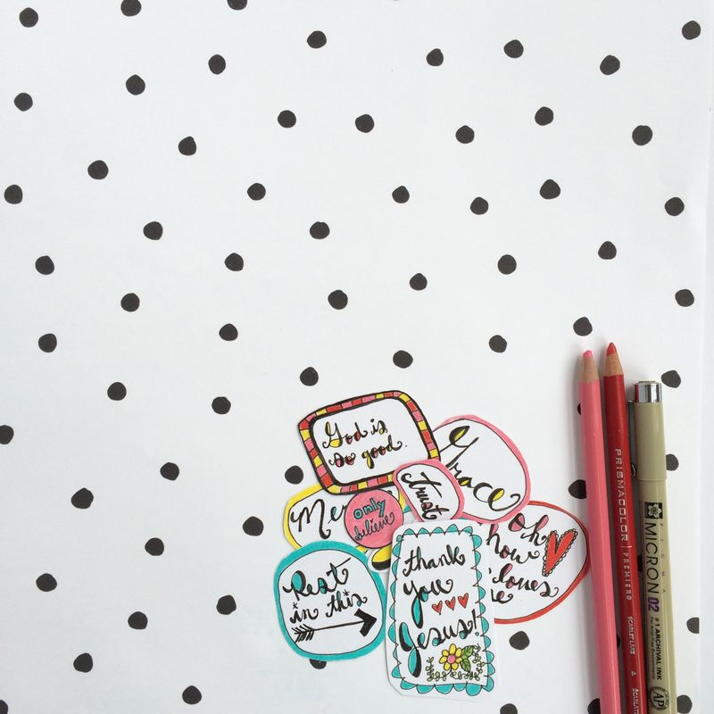 Free Printable Bible Journaling Stickers from Melissa @ PinkPaperPeppermints.com