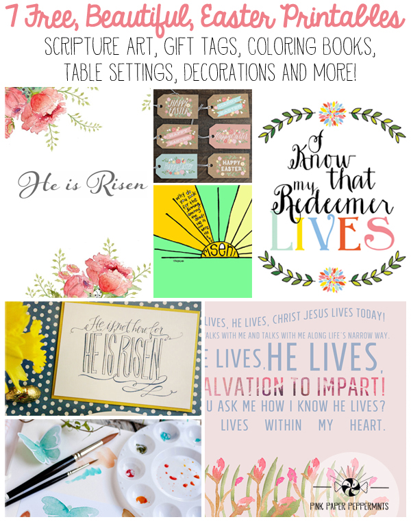 Free Printable Easter Tags, Gift Wrap, Scripture art and more!