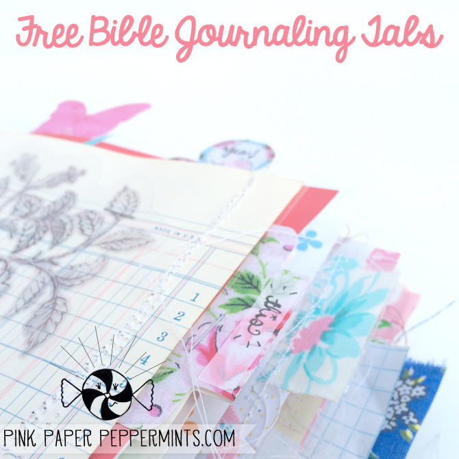 free bible journaling tabs illustrated faith printable