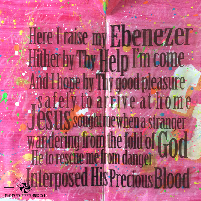 Faith Art Friday - Free printable download to make a pop up in your art journal! Perfect for llustrated Faith and Bible journaling too!