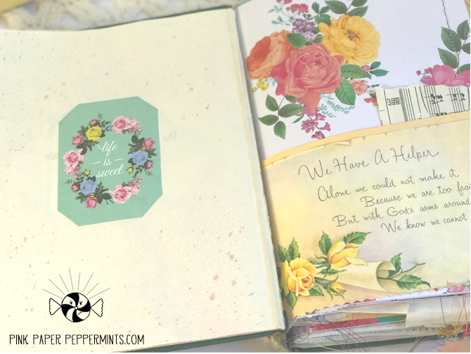 vintage faith art, bible journaling, journal page.
