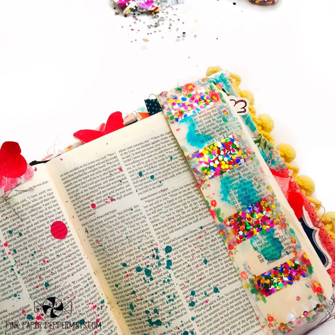 Confetti Tip-In for a Bible Journaling page!