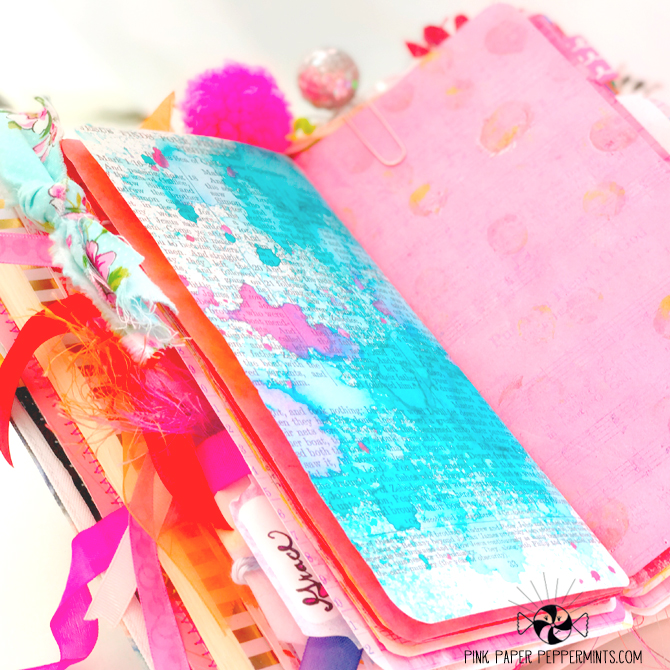 Bible art journaling in a printable Traveler's Notebook insert!