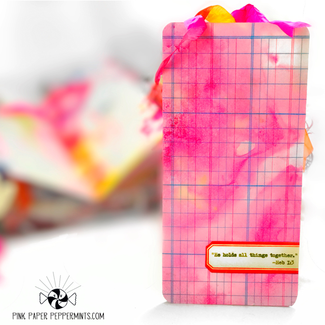 """Pretty printable traveler's notebook pocket folder!  Has bible verse for faith art journals.  """"He holds all things together."""" -Hebrews 1:3"""