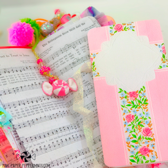 Printable Vintage Hymnal in Traveler's Notebook form!  Pink Paper Peppermints