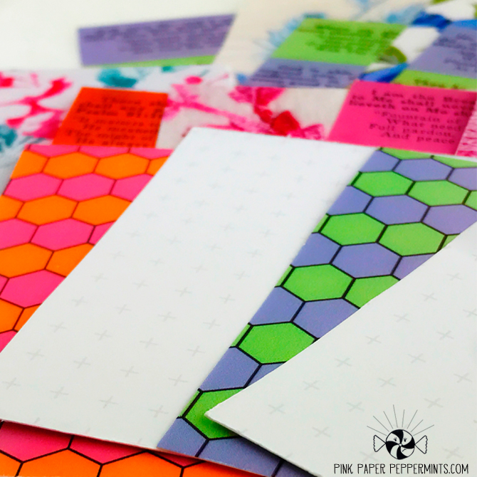 Printable journal cards with print for both sides!