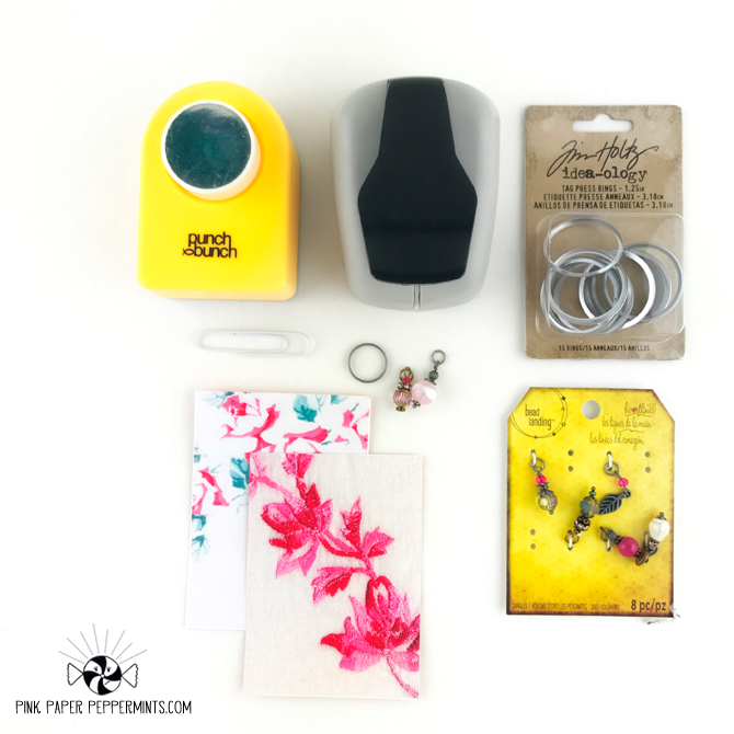 DIY key tag planner charm tutorial using the Tim Holtz tag press!