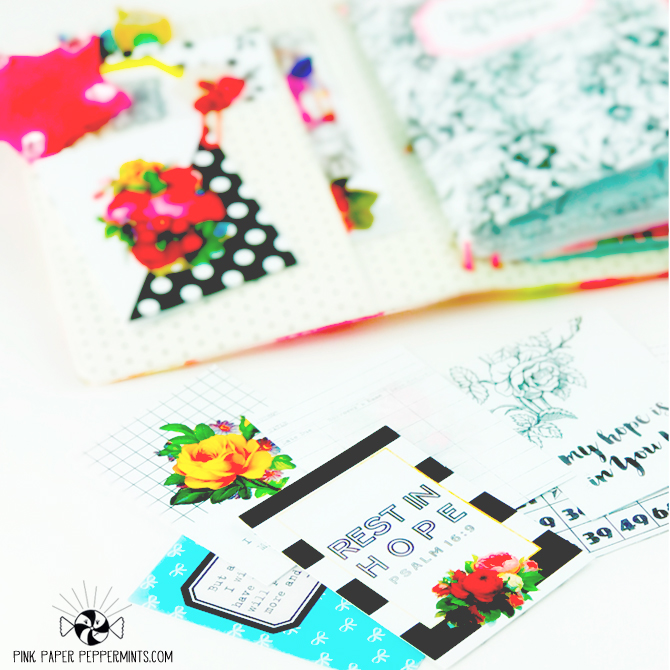 Printable scripture journal cards for pocket scrapping and bible journaling!