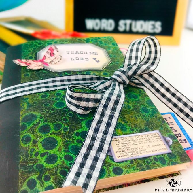 Faith Art Journaling kit.  Perfect for traveler's notebooks, scrapbooks and junk journal.  Super cute school-themed vintage ephemera with scritpures! ♥