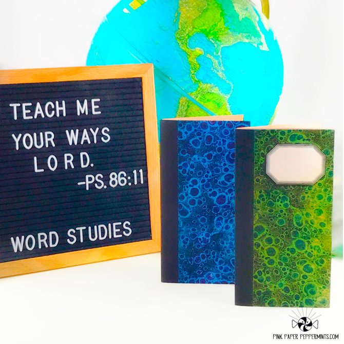 Bible Journaling kit.  Perfect for traveler's notebooks, scrapbooks and junk journal.  Super cute school-themed vintage ephemera with scritpures! ♥