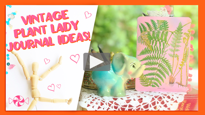 "New ""Plant Lady"" Journal With Me video from Pink Paper Peppermints!"